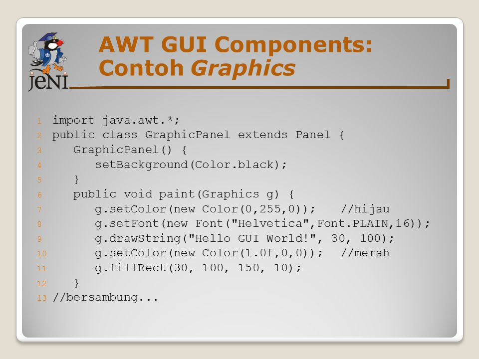 AWT GUI Components: Contoh Graphics