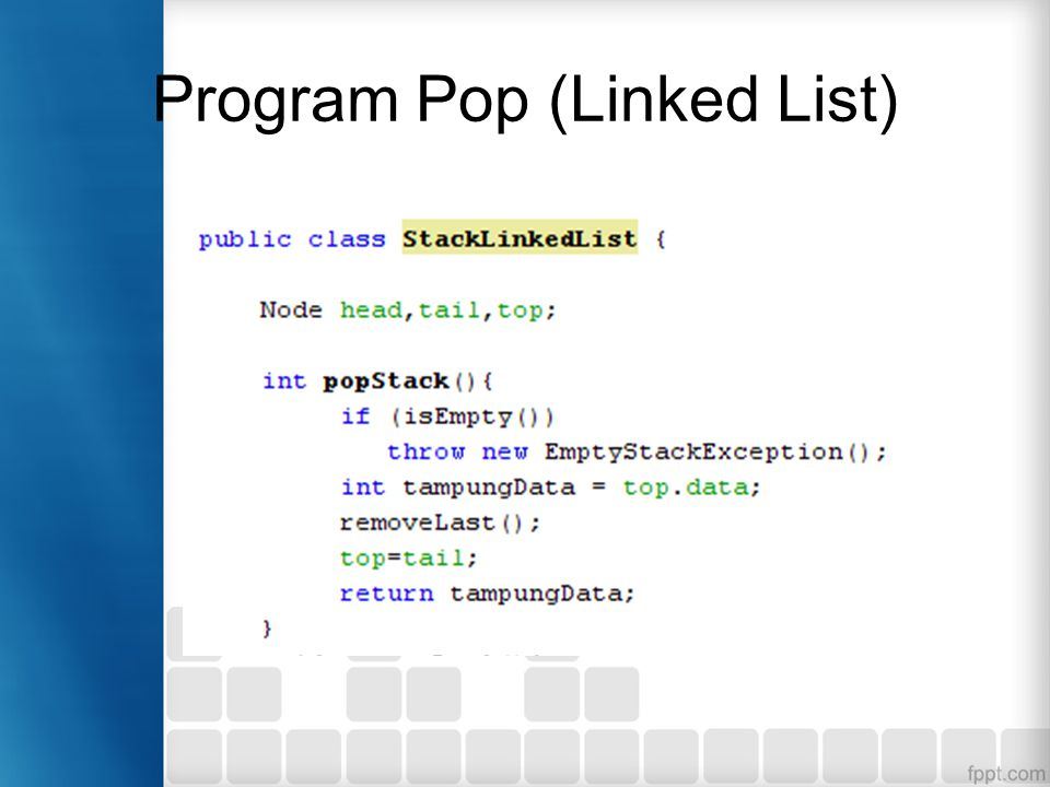 Program Pop (Linked List)