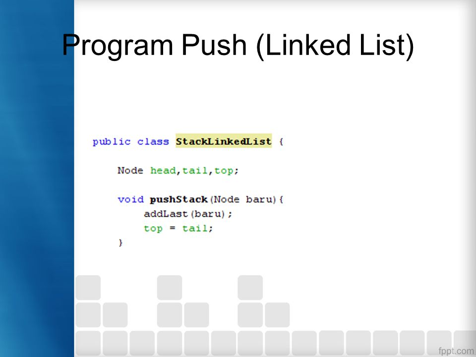 Program Push (Linked List)