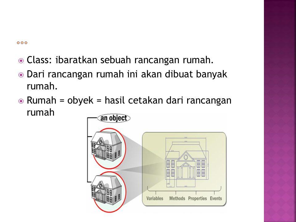 … Class: ibaratkan sebuah rancangan rumah.