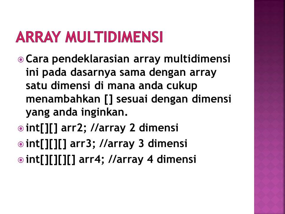 Array multidimensi