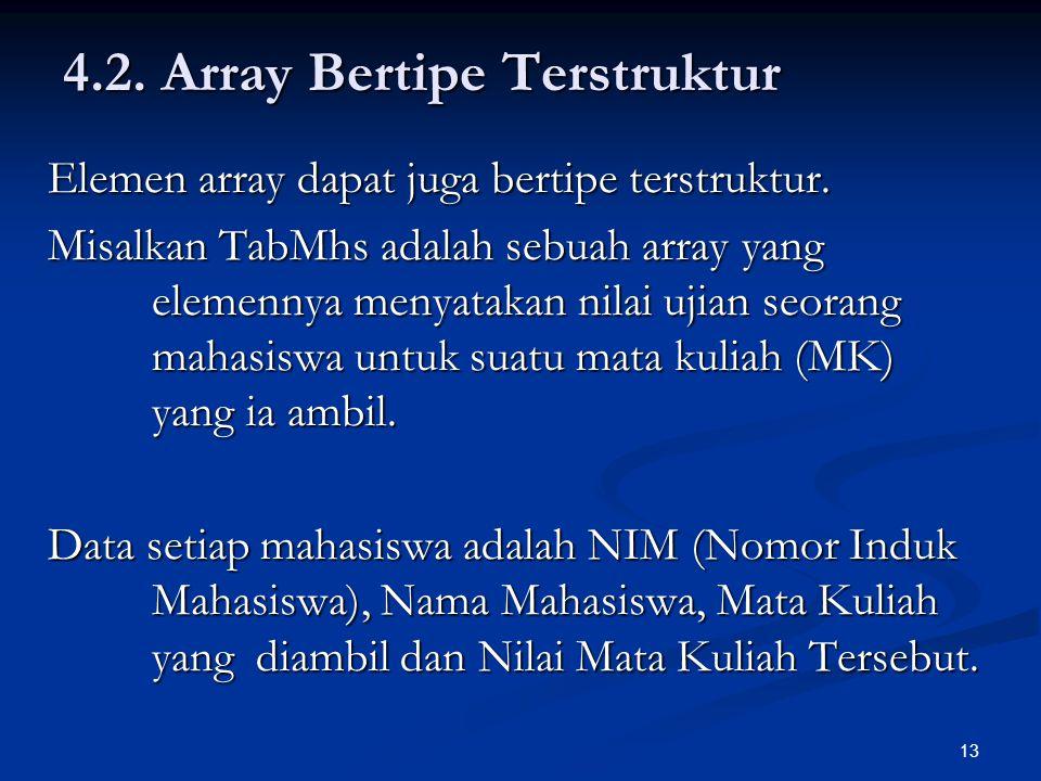 4.2. Array Bertipe Terstruktur