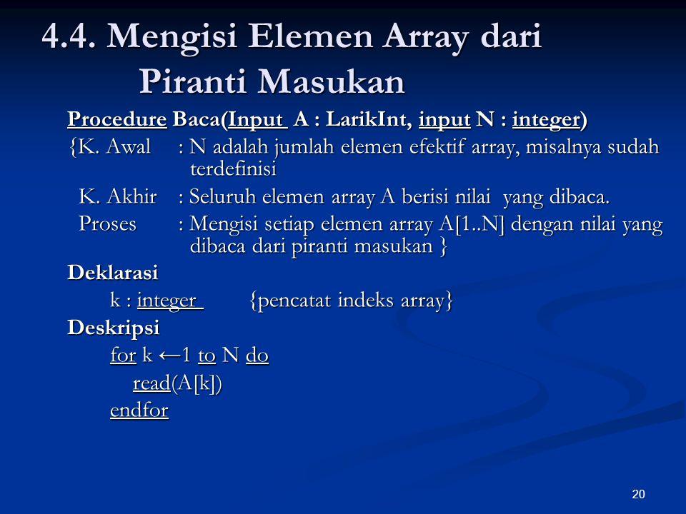4.4. Mengisi Elemen Array dari Piranti Masukan