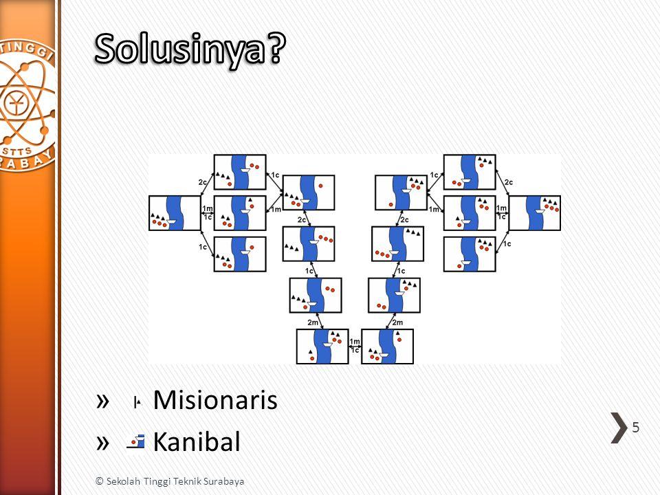 Solusinya Misionaris Kanibal © Sekolah Tinggi Teknik Surabaya