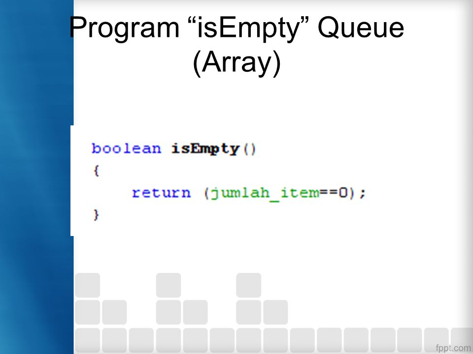 Program isEmpty Queue (Array)