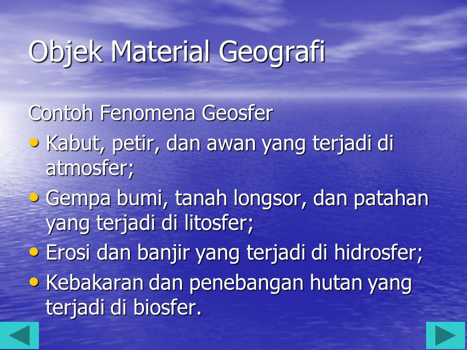Objek Material Geografi