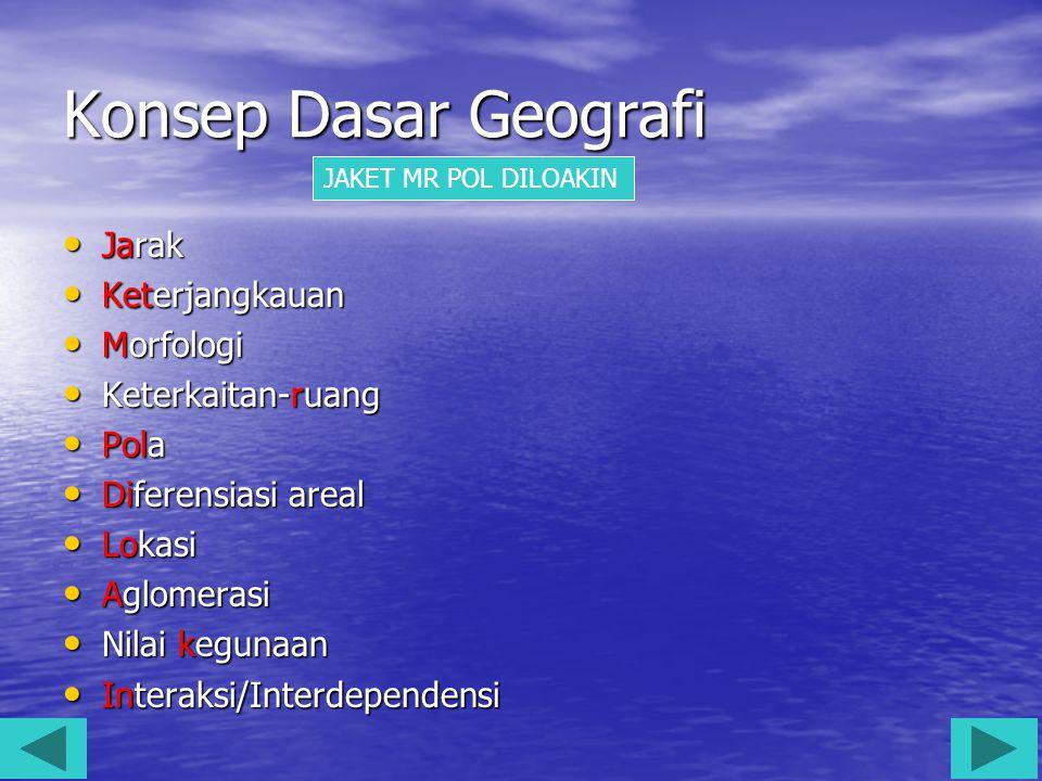 Konsep Dasar Geografi Jarak Keterjangkauan Morfologi Keterkaitan-ruang