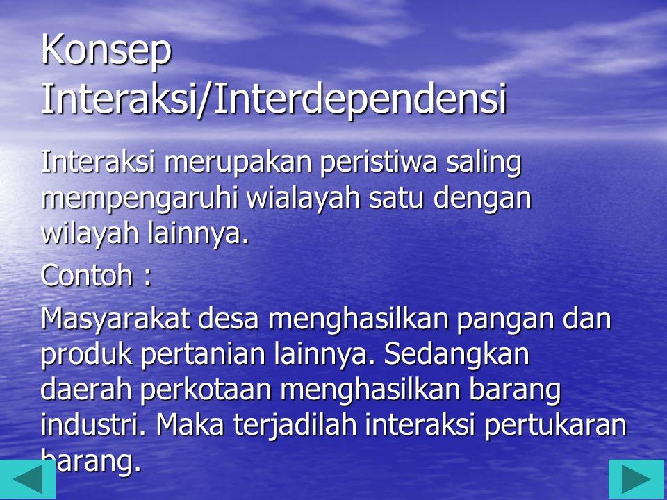 Konsep Interaksi/Interdependensi