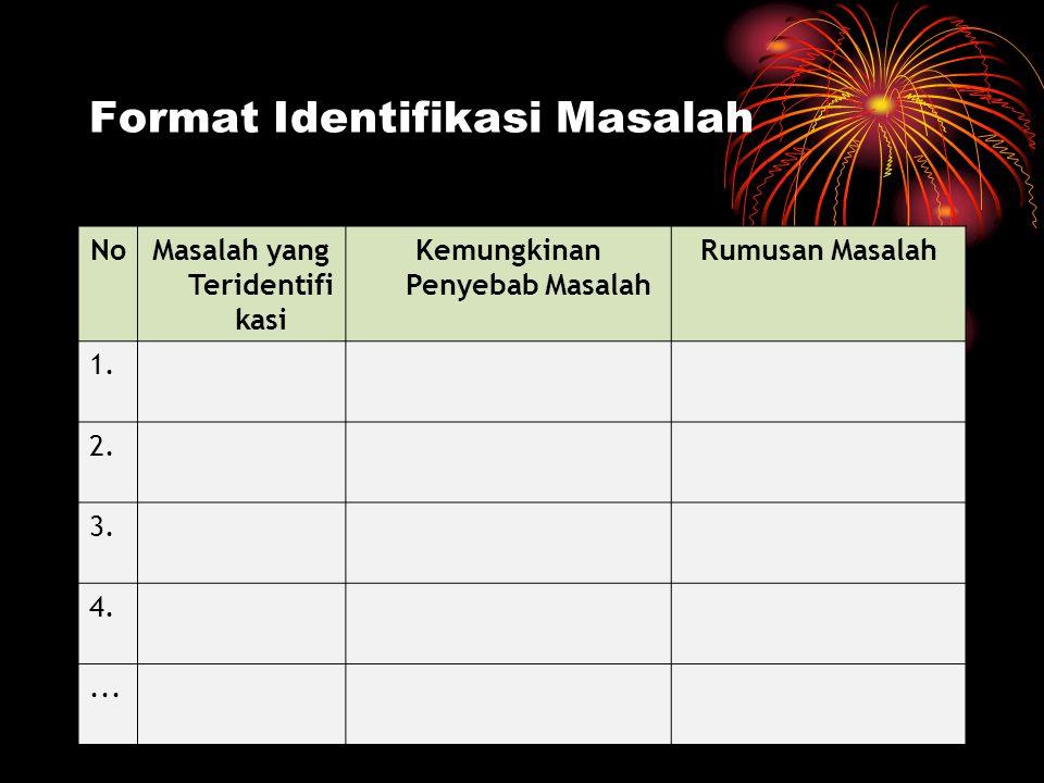 Format Identifikasi Masalah