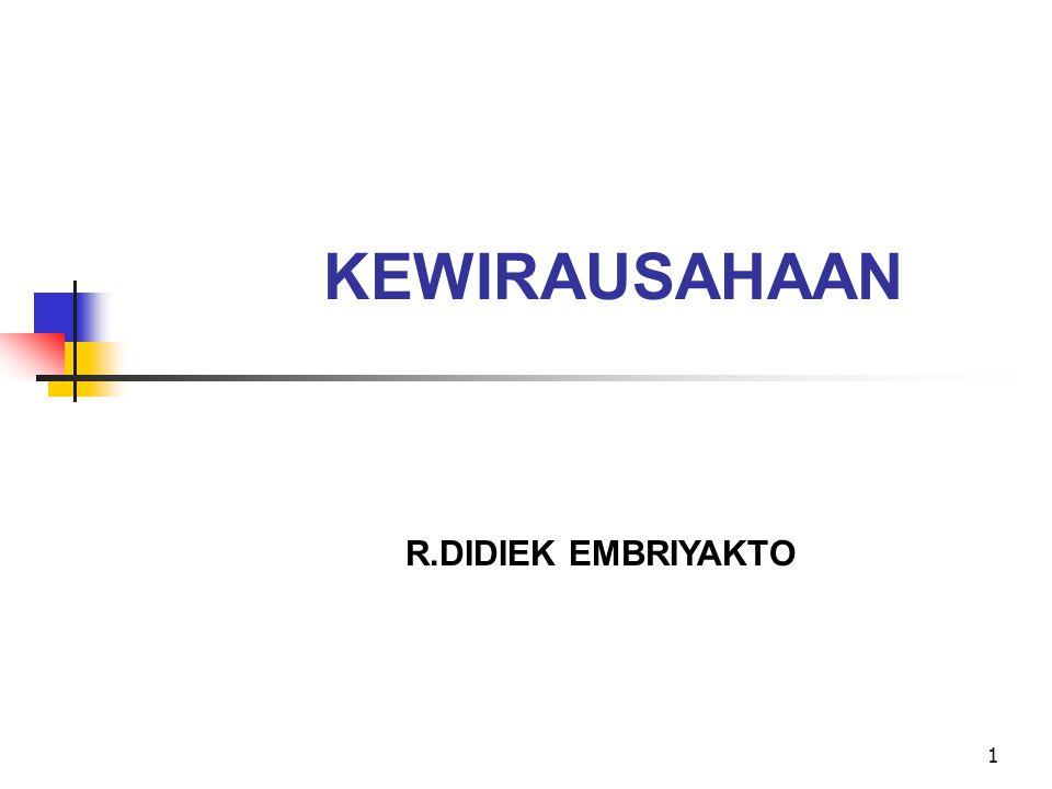 KEWIRAUSAHAAN R.DIDIEK EMBRIYAKTO