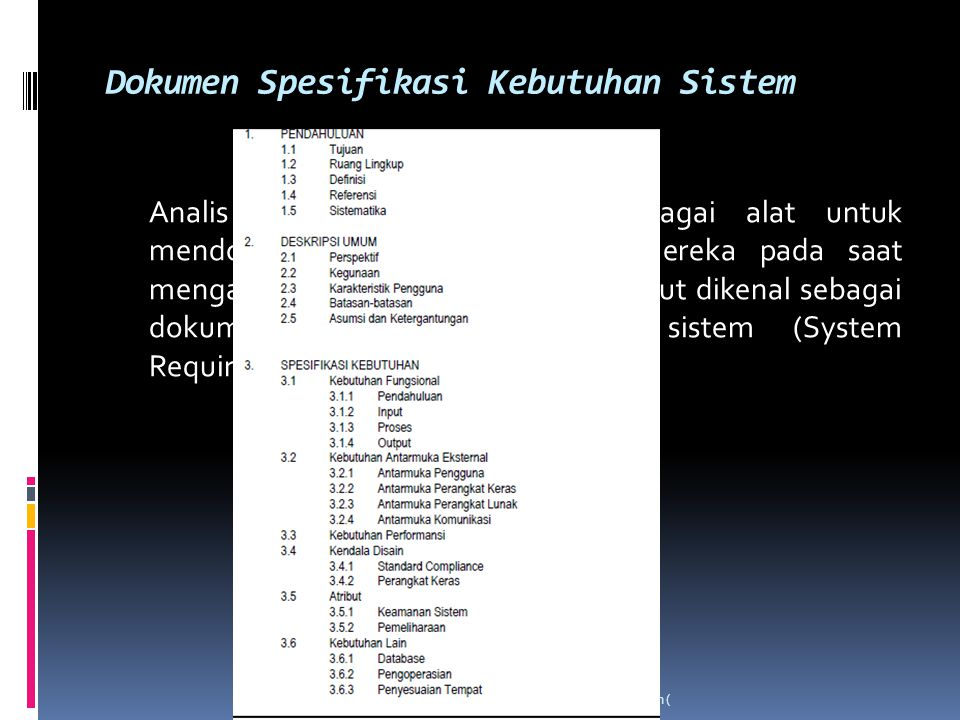 Dokumen Spesifikasi Kebutuhan Sistem
