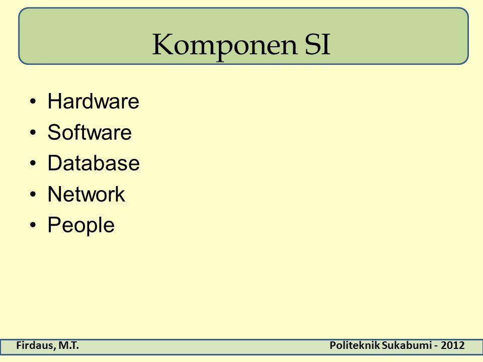 Komponen SI Hardware Software Database Network People