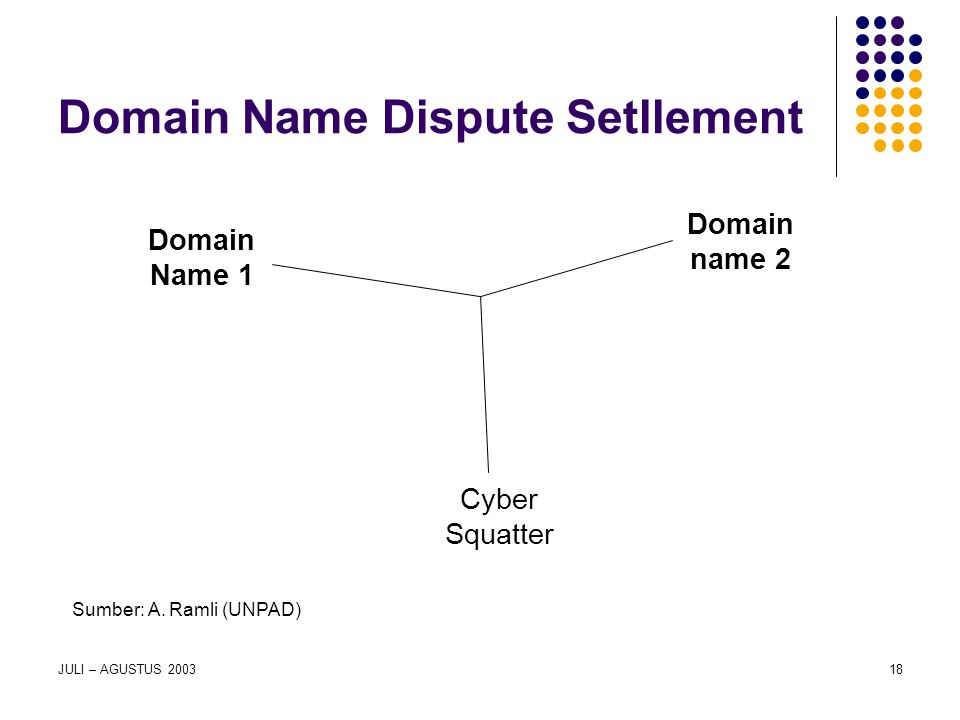 Domain Name Dispute Setllement