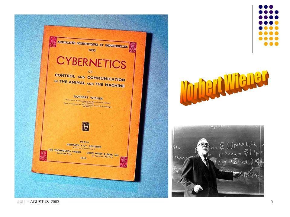 Norbert Wiener JULI – AGUSTUS 2003