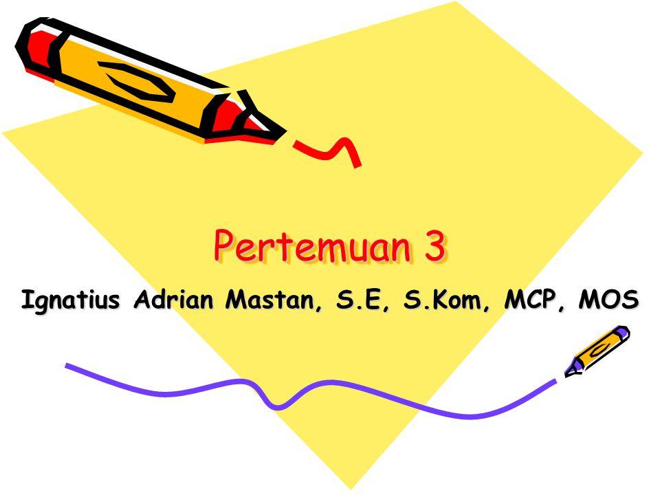 Ignatius Adrian Mastan, S.E, S.Kom, MCP, MOS