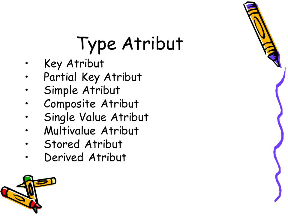 Type Atribut Key Atribut Partial Key Atribut Simple Atribut