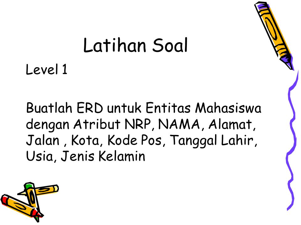 Latihan Soal Level 1.