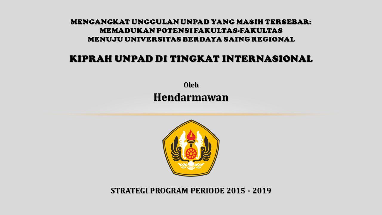 STRATEGI PROGRAM PERIODE 2015 - 2019