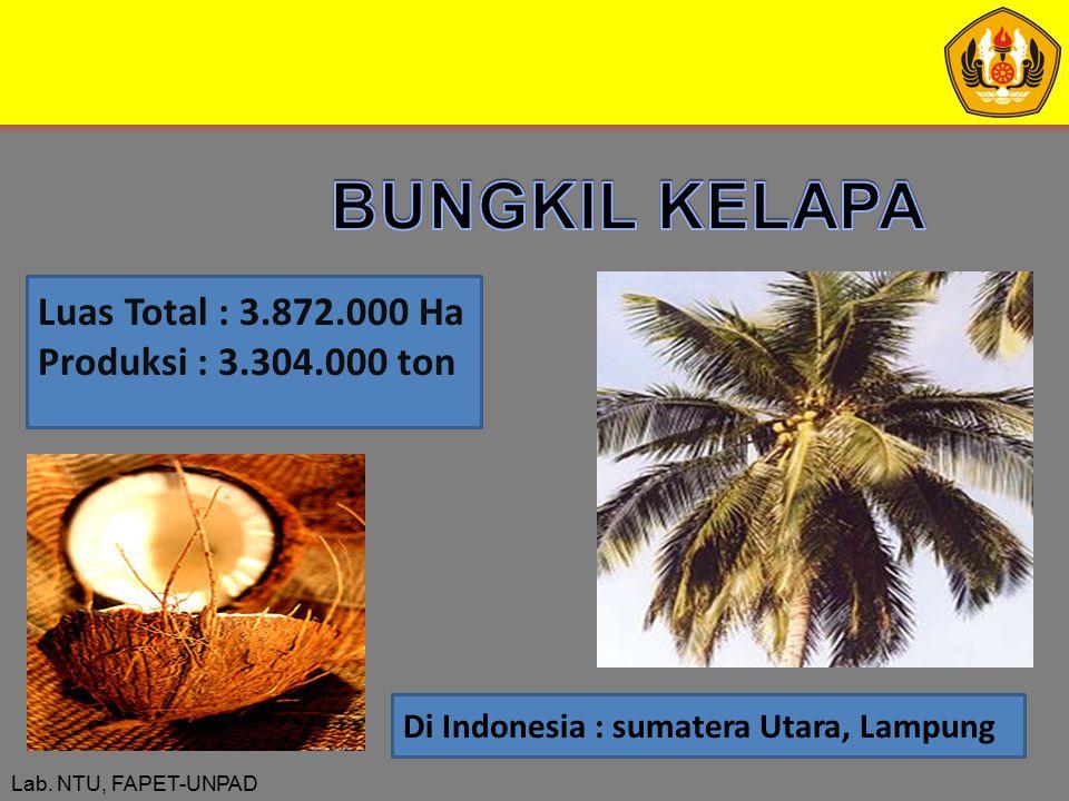 BUNGKIL KELAPA Luas Total : 3.872.000 Ha Produksi : 3.304.000 ton
