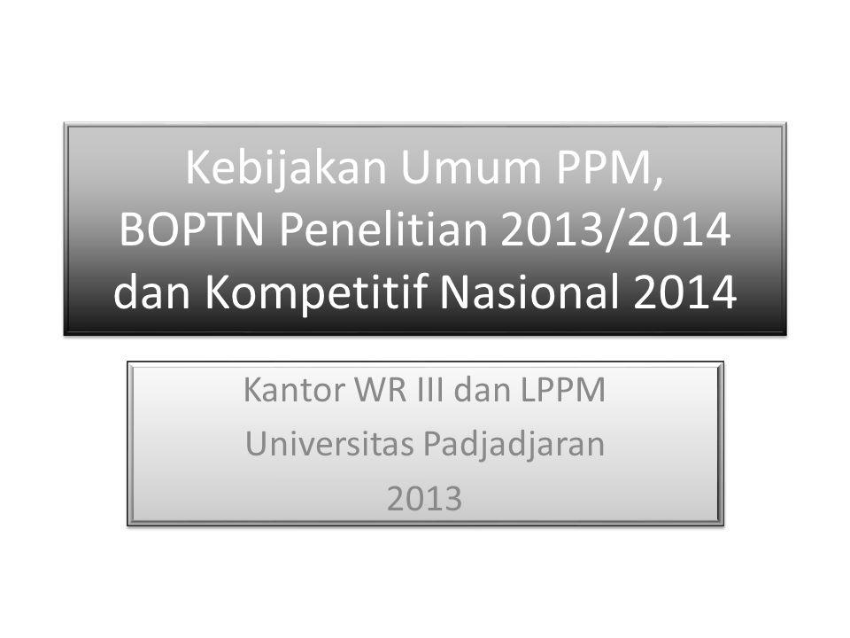 Kantor WR III dan LPPM Universitas Padjadjaran 2013