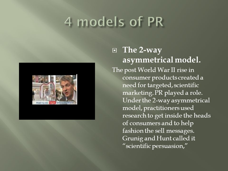 4 models of PR The 2-way asymmetrical model.