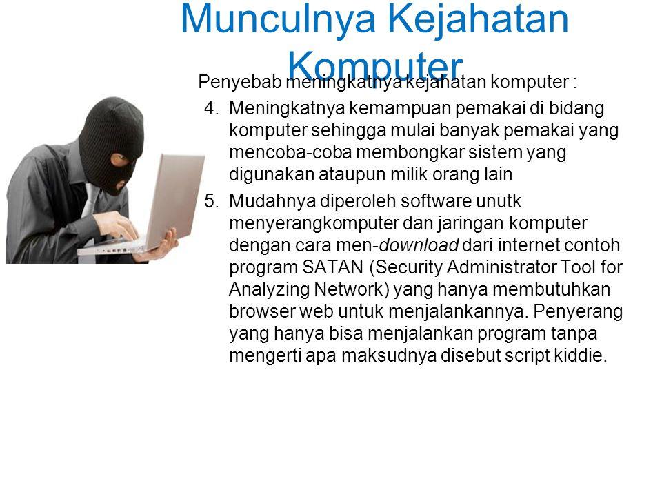 Munculnya Kejahatan Komputer