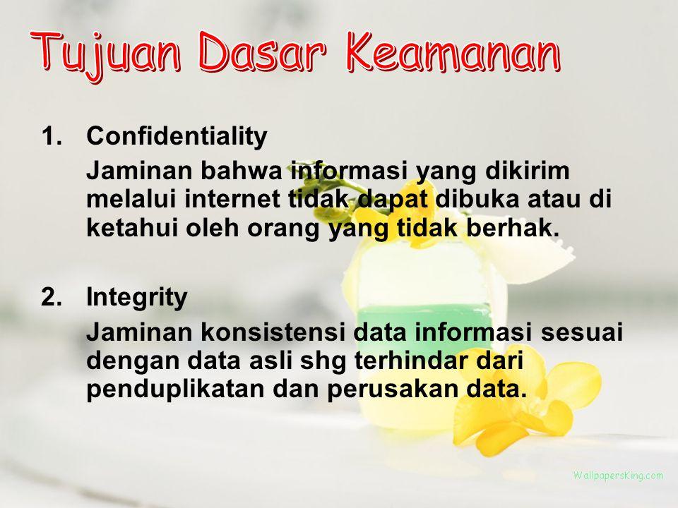 Tujuan Dasar Keamanan Confidentiality