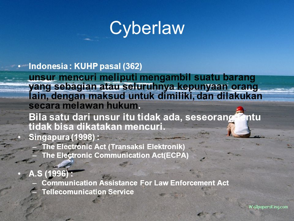 Cyberlaw Indonesia : KUHP pasal (362)