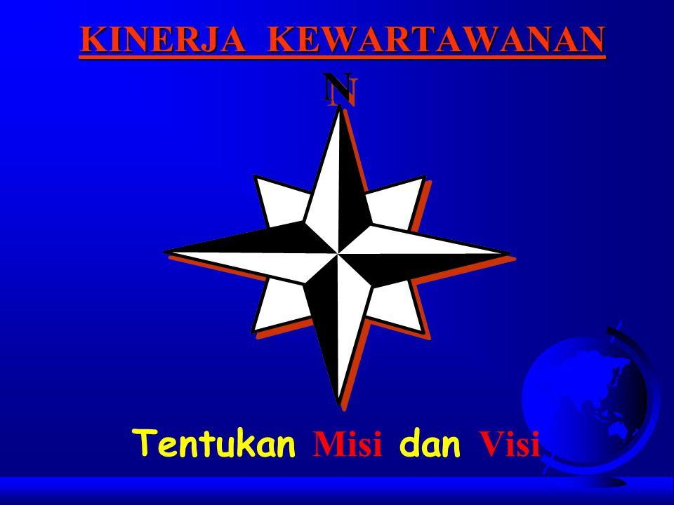 KINERJA KEWARTAWANAN Tentukan Misi dan Visi