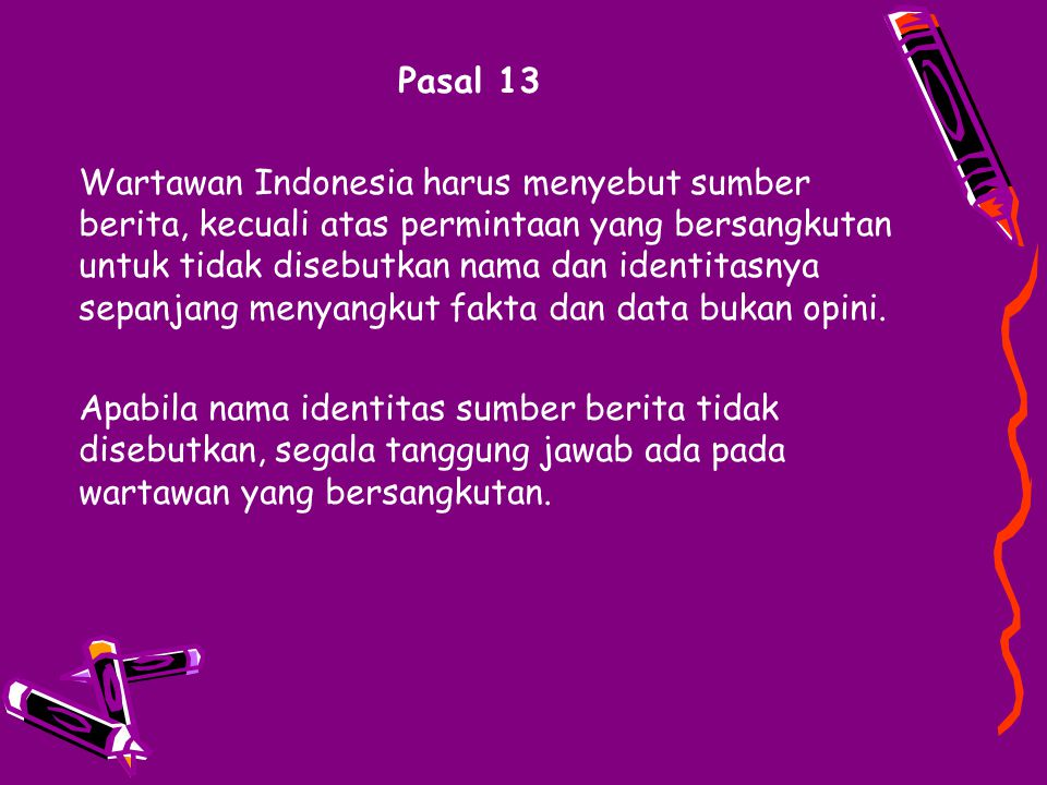 Pasal 13