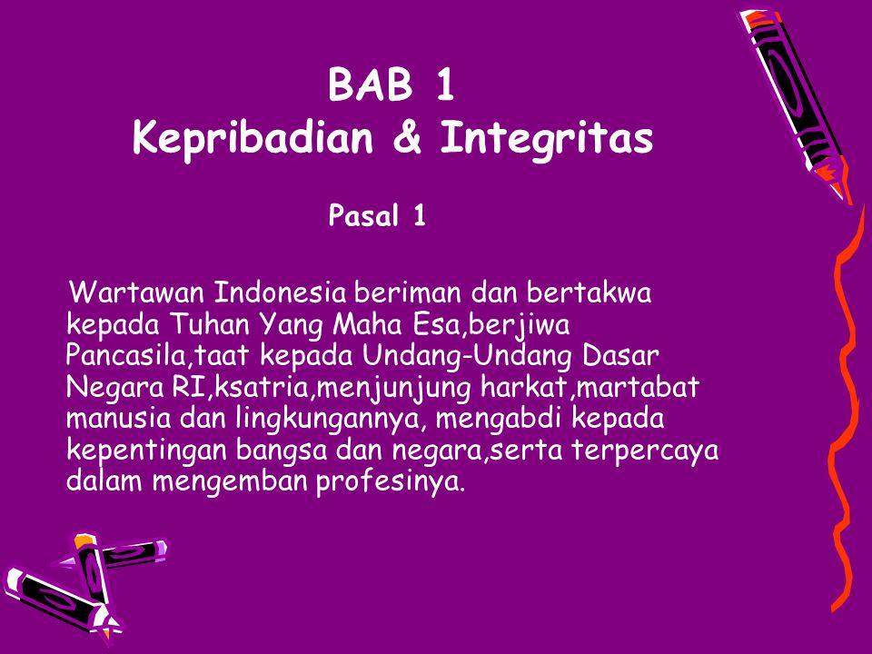 BAB 1 Kepribadian & Integritas