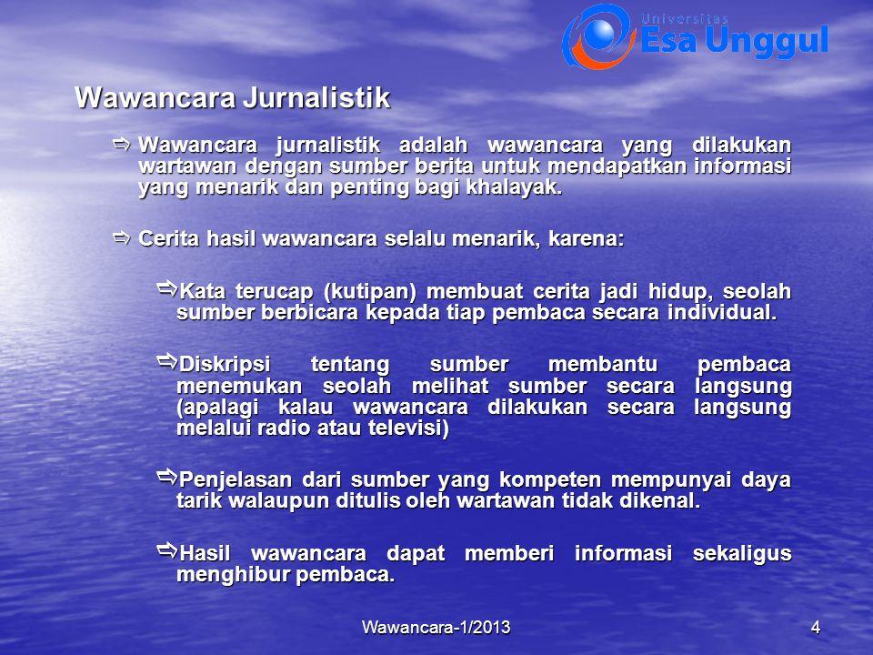 Wawancara Jurnalistik