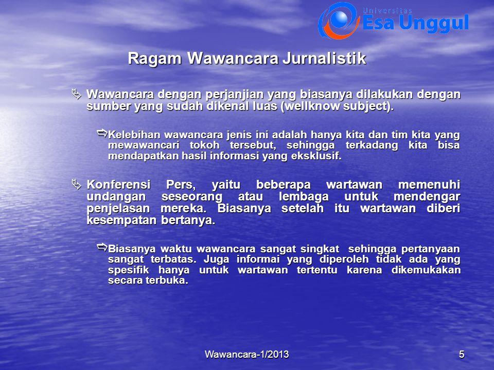 Ragam Wawancara Jurnalistik