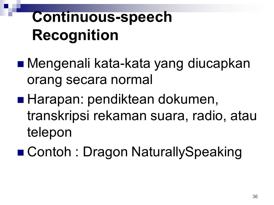 Continuous-speech Recognition
