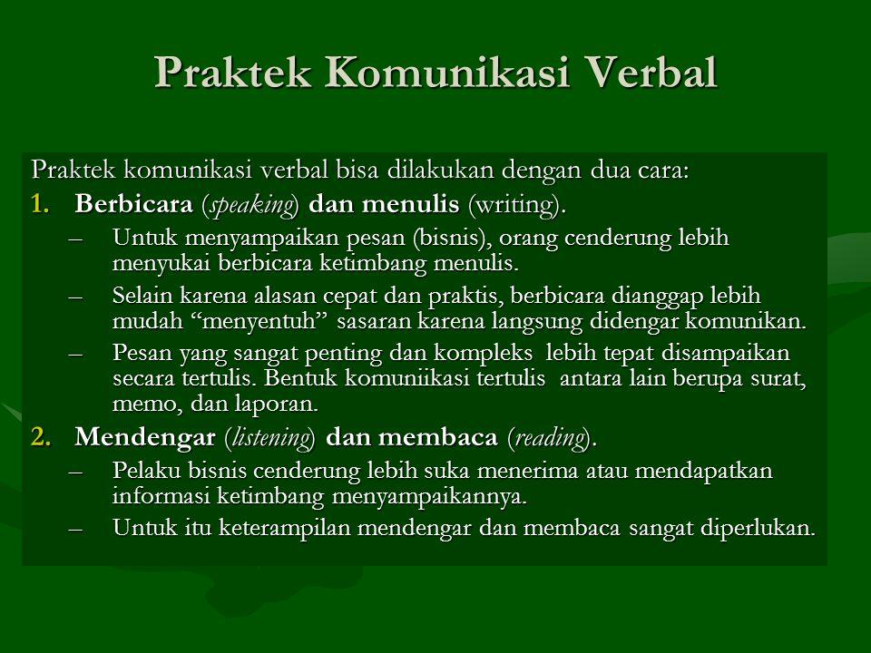 Praktek Komunikasi Verbal