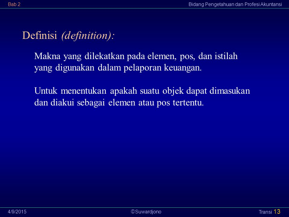 Definisi (definition):