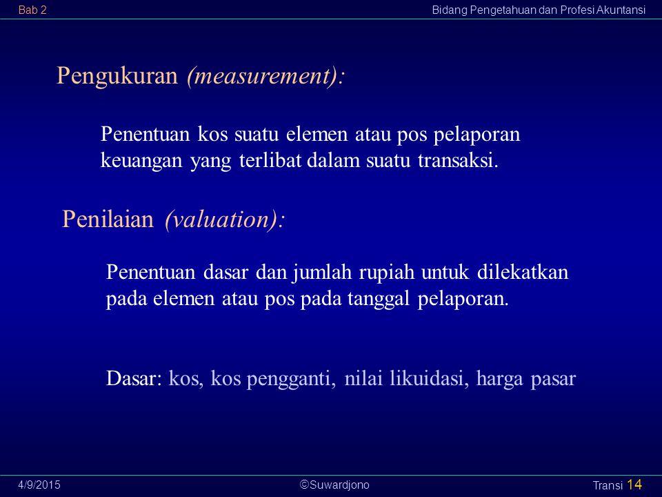 Pengukuran (measurement):