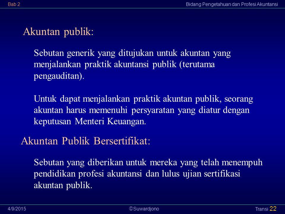 Akuntan Publik Bersertifikat: