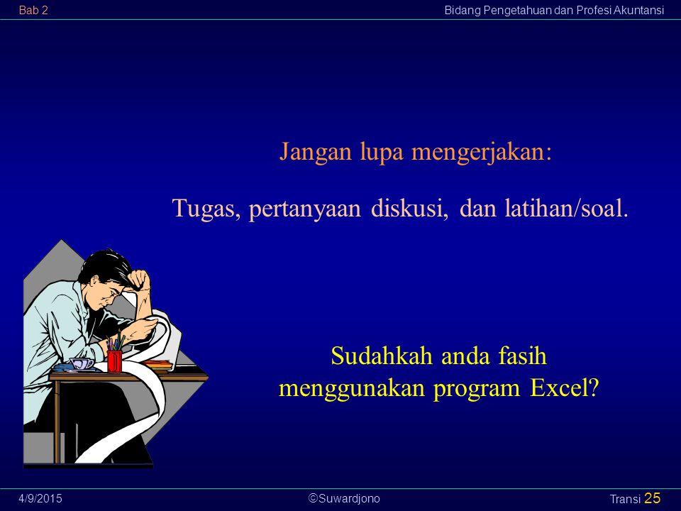 Sudahkah anda fasih menggunakan program Excel