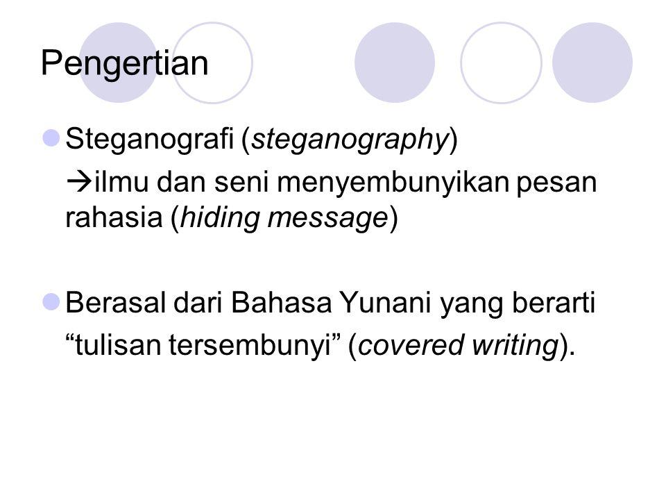Pengertian Steganografi (steganography)