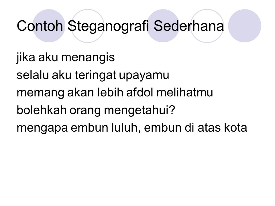 Contoh Steganografi Sederhana