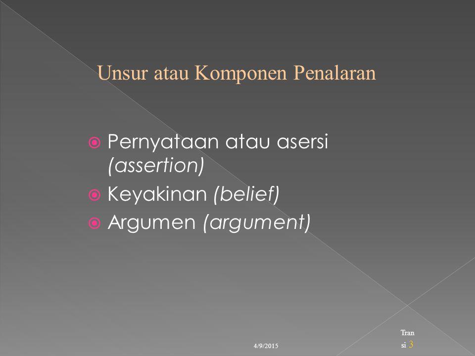 Unsur atau Komponen Penalaran