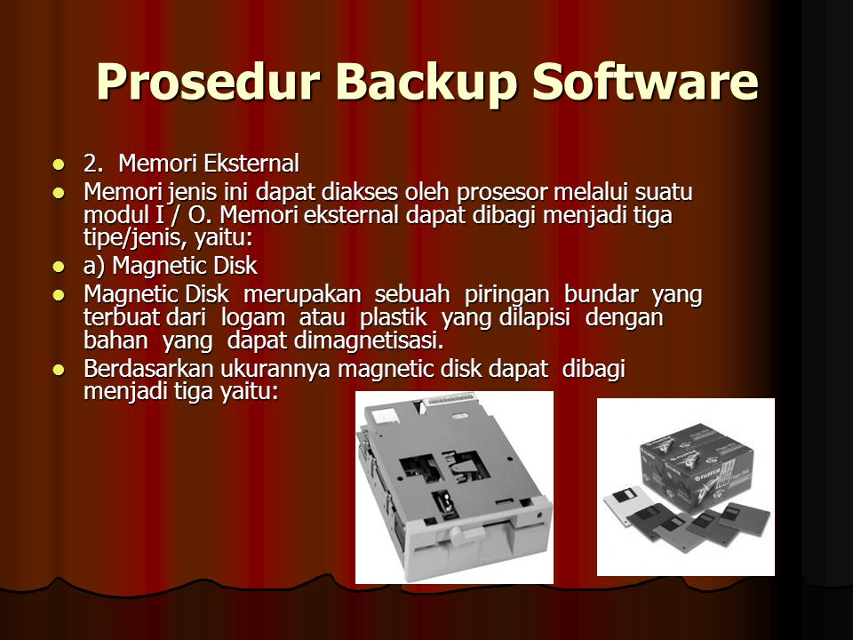 Prosedur Backup Software