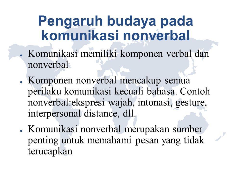 Pengaruh budaya pada komunikasi nonverbal