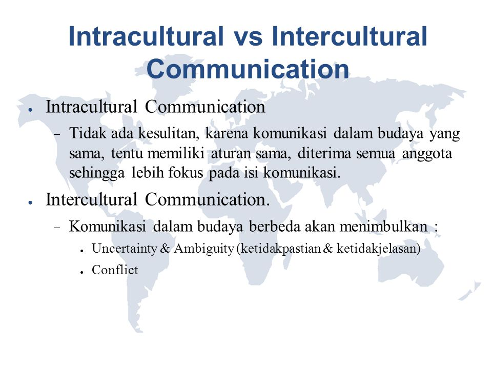 Intracultural vs Intercultural Communication