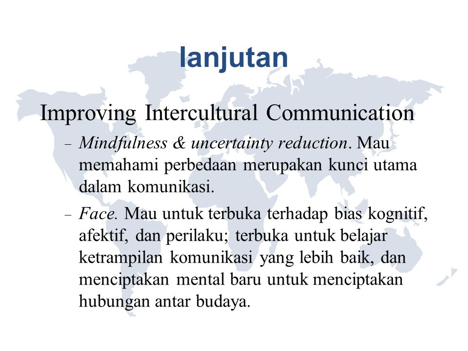 lanjutan Improving Intercultural Communication
