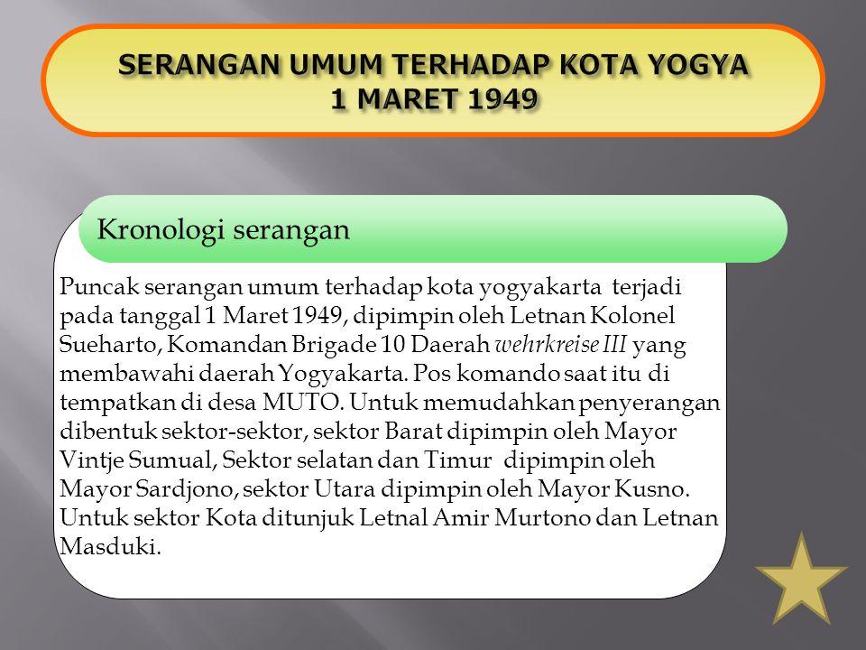 SERANGAN UMUM TERHADAP KOTA YOGYA 1 MARET 1949