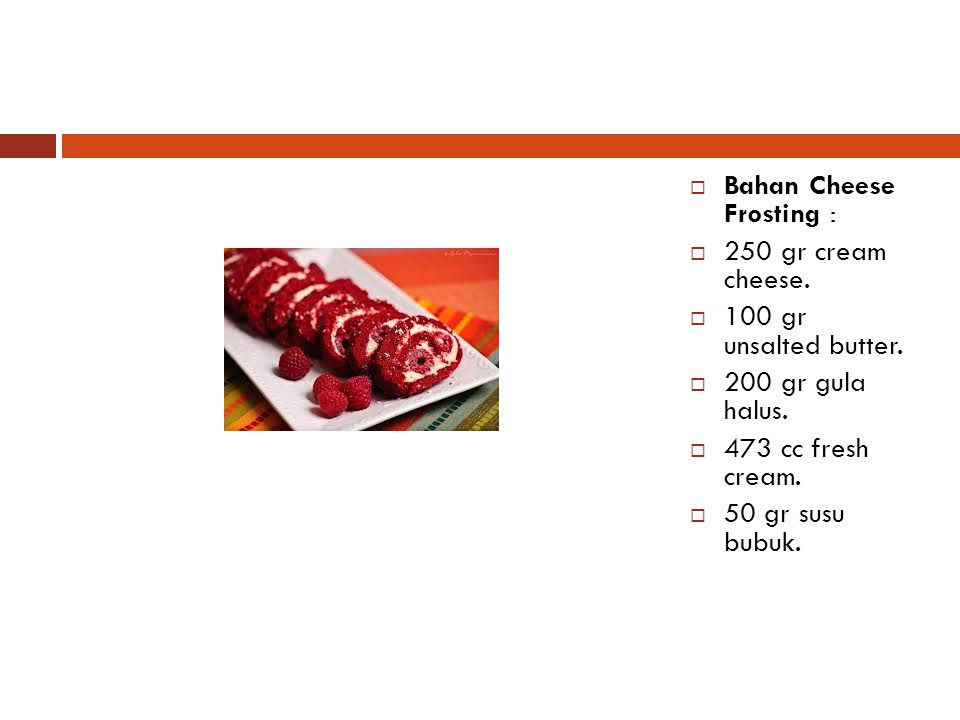 Bahan Cheese Frosting :