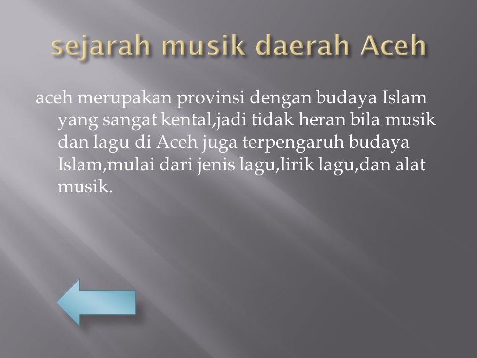 sejarah musik daerah Aceh