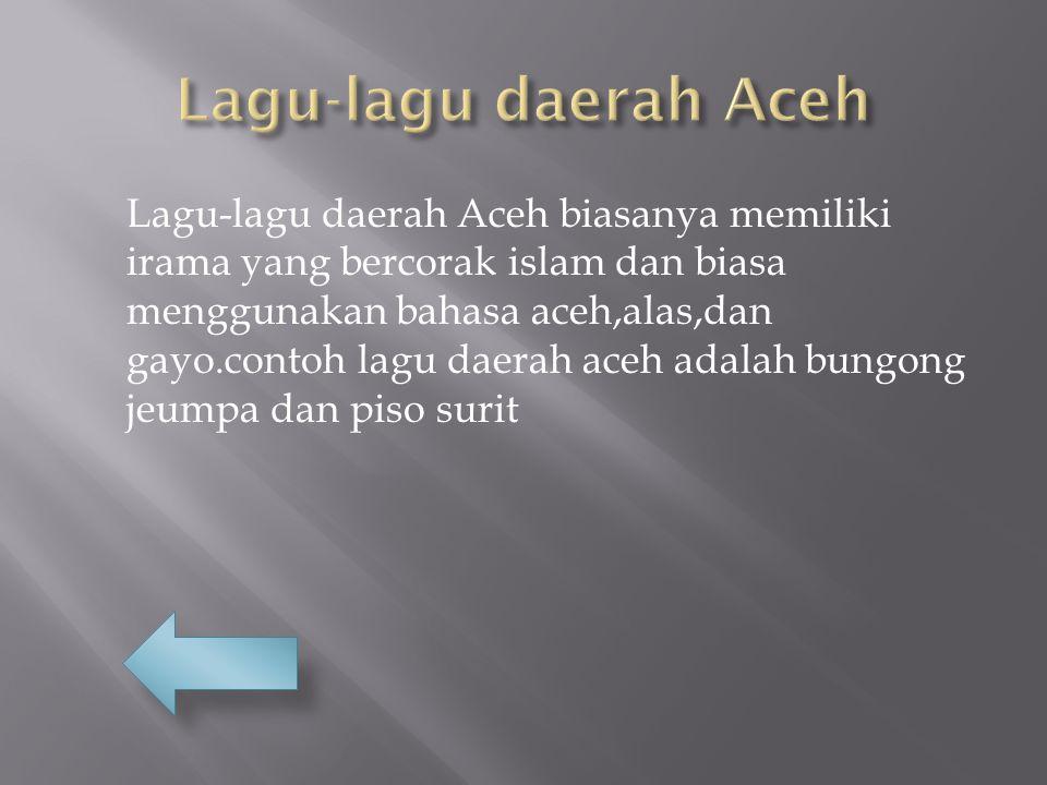 Lagu-lagu daerah Aceh
